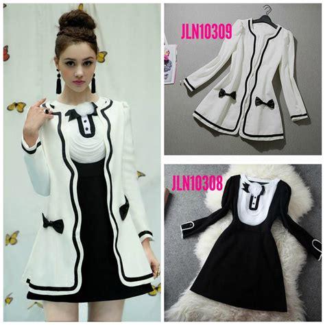 Baju Dokter Korea butik baju import asli k princess shop jaket wanita korea white korean coat