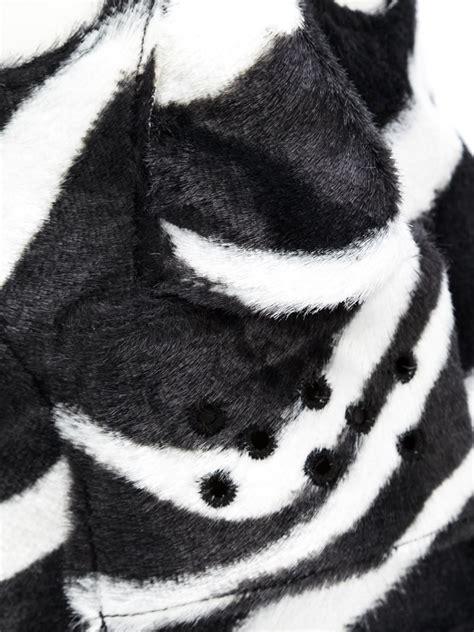 zebra mask pattern comme des gar 231 ons zebra pattern face mask in black for men