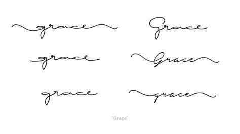 tattoo fonts thin custom request handwritten cursive font