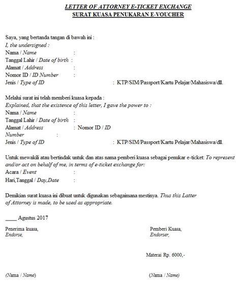 yes24 indonesia on quot ini contoh surat kuasa yang bisa digunakan