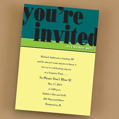 wording for office invitations his birthday invitation printed with your wording his