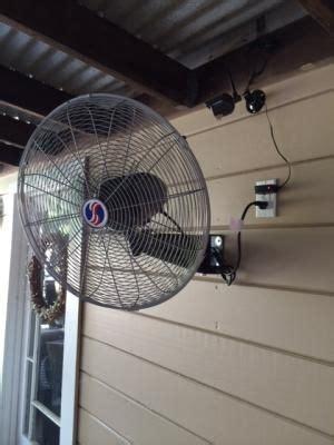 perfect outdoor patio fan patio fan outdoor wall