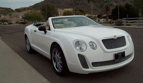 bentley replica sebring overkill chrysler sebring based bentley continental gtc