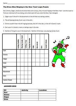 printable christmas logic puzzles for middle school winter holiday christmas fun seven logic puzzles for