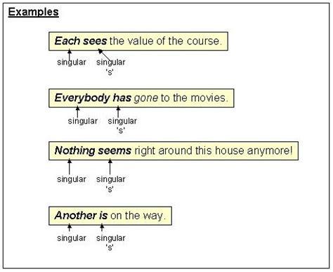 sentence pattern subject verb agreement subject verb agreement