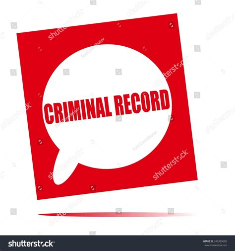 How To See A Criminal Record For Free Criminal Record Speech Icon Stock Photo 343359605