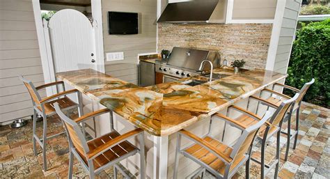 outdoor kitchen countertop ideas outdoor kitchen countertops orlando adp surfaces