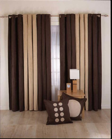 brown curtains for living room curtain designs for living room brown cream color jpg 950