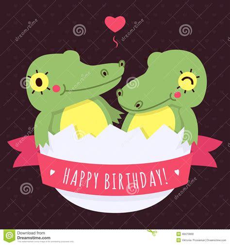 imagenes de cumpleaños para gemelos los cocodrilos lindos del beb 233 de los gemelos en huevo