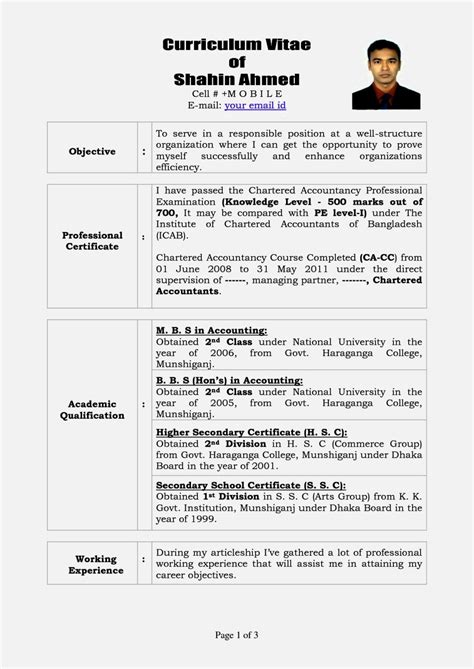 how to write a cv resume 14 curriculum vitae sample format personal