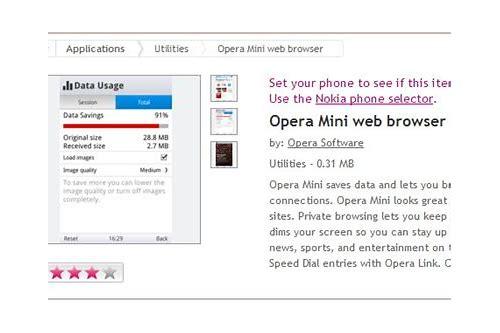 opera mini free download for mobile nokia 206