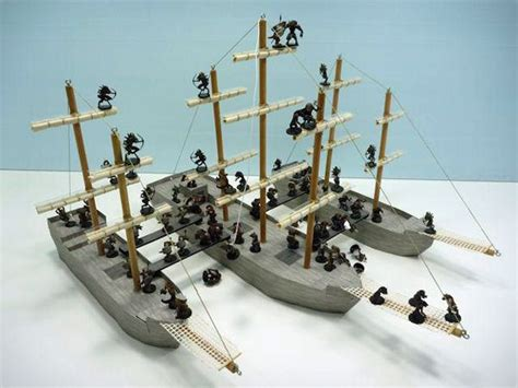 foam gaming d d sailing ships diorama tips and - Miniature Boats And Ships
