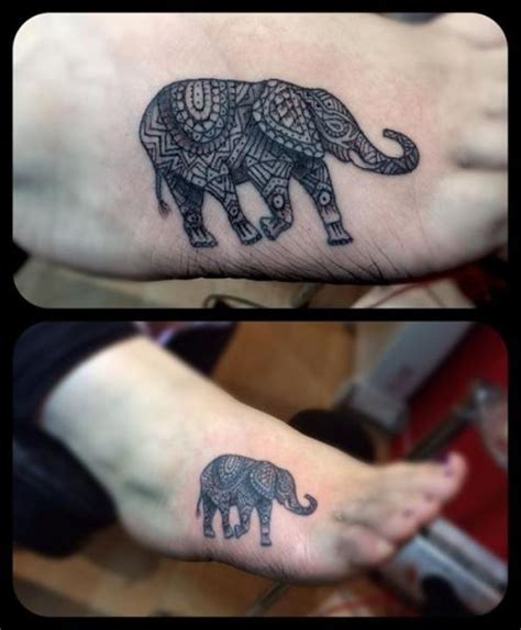 foot elephant tattoo by top gun tattooing