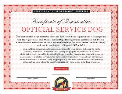Canadian Service Dog Emotional And Therapy Service Dog Vest And Id Card Kits Infographic Emotional Support Animal Id Card Template