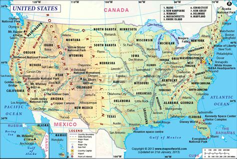 us map with cities and mountains north america is the third largest continent and is spread