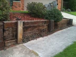 timber retaining wall a new house
