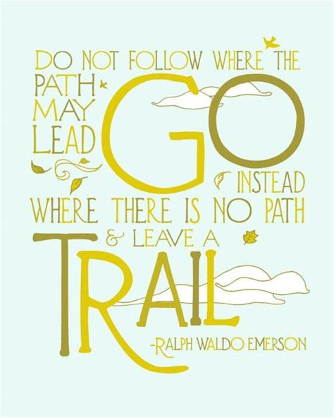 printable ralph waldo emerson quotes 8x10 trail quote nature art print typography modern