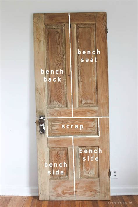 how to make an old door into a headboard old door new bench rustic bench wood doors and bench