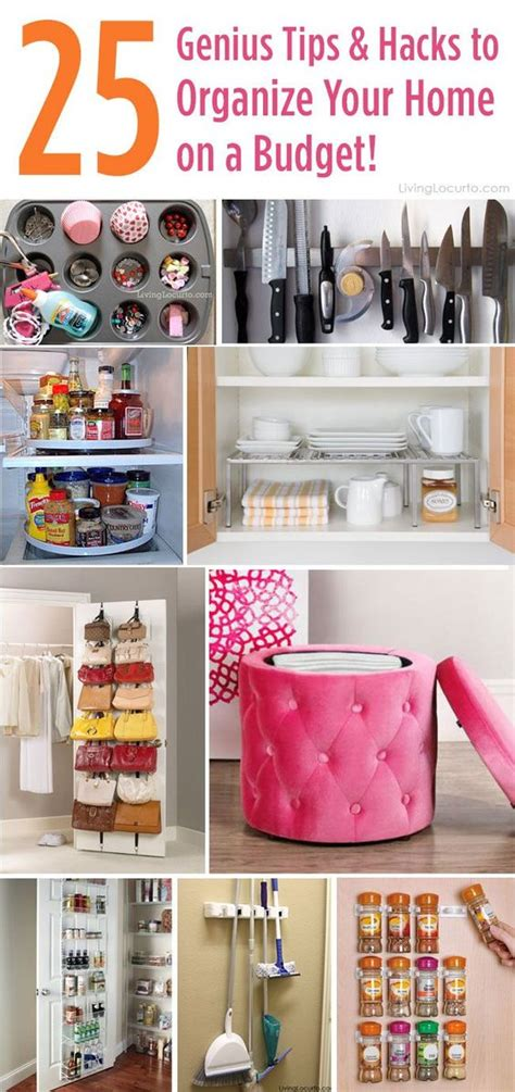 how to organize my house on a budget 25 genius tips and hacks to organize your home on a budget