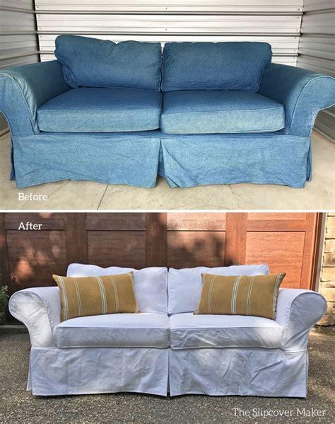 white denim slipcovers for sofa custom ikea slipcovers