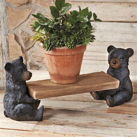 black bear decorations home black bear flower bench
