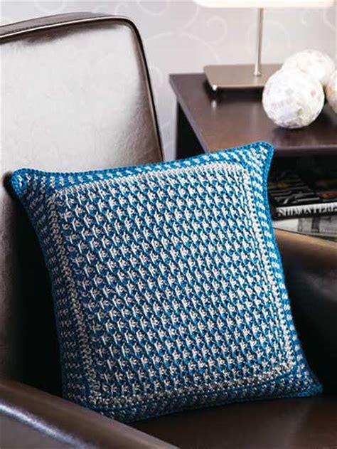 textured tunisian pillow free crochet pattern