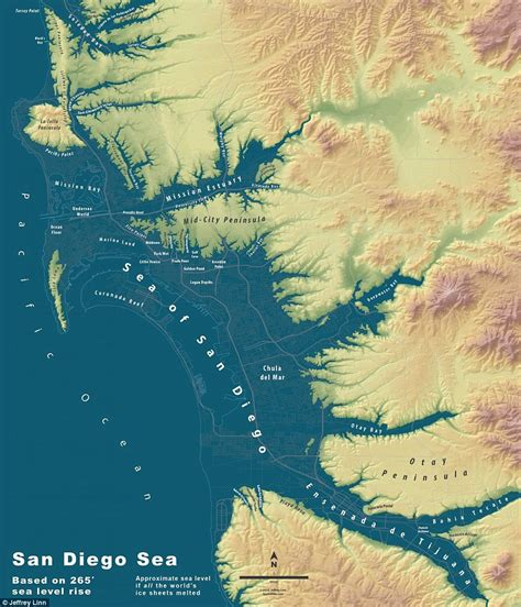 bodies of water near los angeles maps show what major u s cities would look like if world