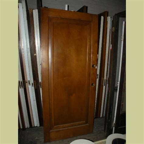 Wide Vintage One Panel Miracle Type Door In Light Stain Wide Interior Doors