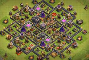 Coc th9 trophy base layout with bomb tower coc th9 trophy bases with
