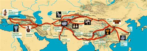 maps atlas silk road trade routes map