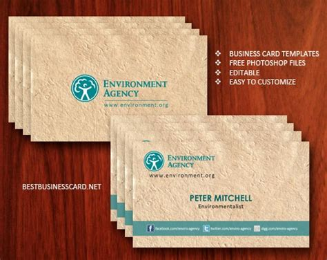 eco business card templates 100 free psd business card templates
