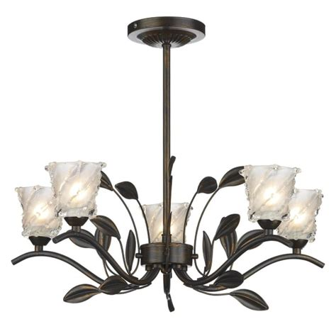 bronze rustic cottage style ceiling light for low ceilings