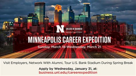 Unl Mba Application Deadline by Career Expedition To Minneapolis Announce