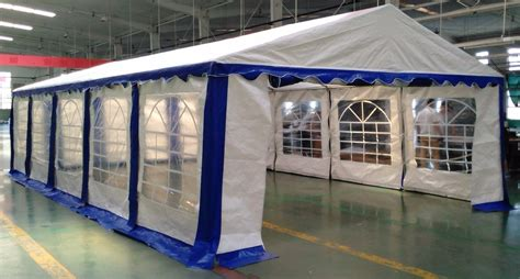 large awnings and canopies 15 x 30 heavy duty white and blue party tent canopy