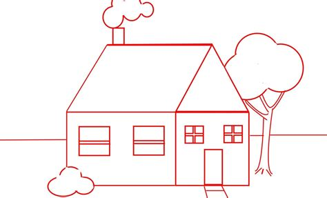 draw your house draw a house for and beginners one