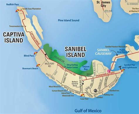 sanibel island map printable sanibel captiva
