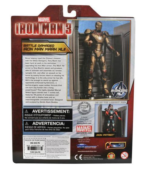 Marvel Select Iron 42 Battle Damaged select toys reveals exclusive marvel select iron 3 battle damaged 42 and iron