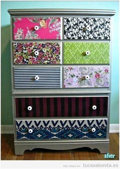 papeles para muebles ideas para decorar muebles con papeles estados y washi