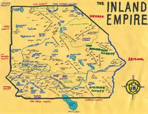 map of inland empire california inland empire california map california map