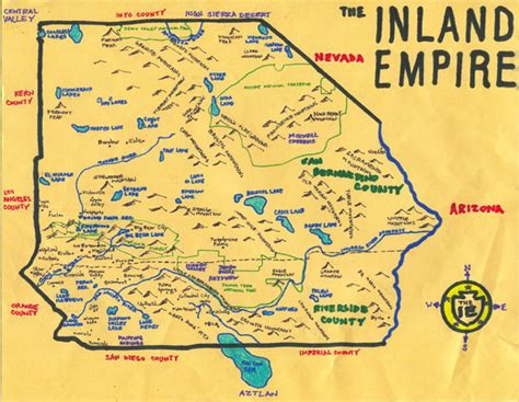 Inland Empire map of the inland empire ca cities pictures to pin on