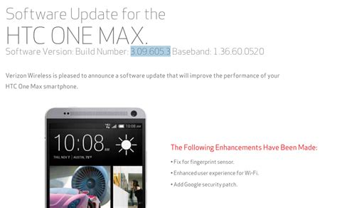 verizon android update verizon htc one max receiving new update but it s not android 5 0 or 5 1 v3 09 605 3 the