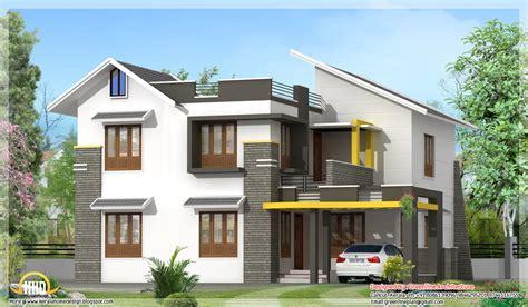 2100 square 4 bhk contemporary home design modern contemporary 2100 sq ft villa kerala home design and floor plans