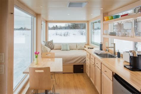 Finished Basement Floor Plan Ideas by This Tiny Home On Wheels Lets You Change Your Vista On A