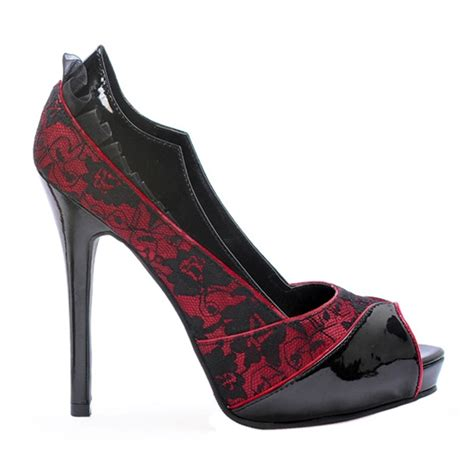 Sendal Wanita Sandal Spicatto Sp 518 21 black lace overlay s open toe platform pumps at sinister soles
