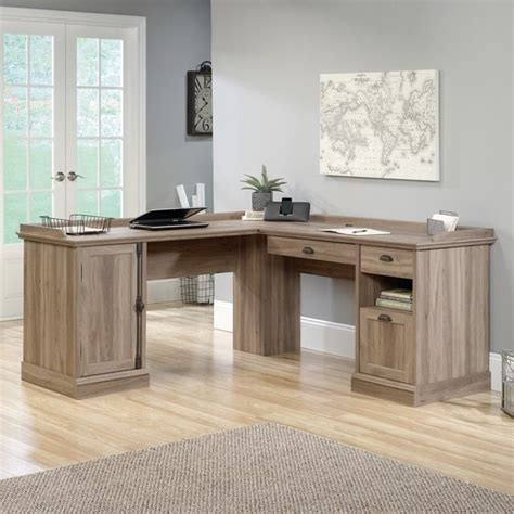 l shaped desk in salt oak 418270