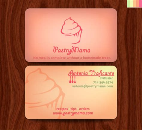 business card template for a bakery bakery business cards 20 exles of pastry shop business