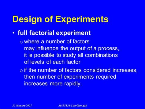 design of experiment number of runs problem solving techniques ppt video online download