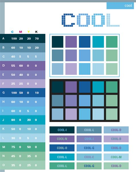 color combination for blue blue green color code cmyk
