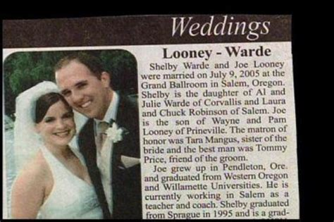 Wedding Announcement Bad Last Names by Wedding Name Combos So Bad It S To Believe Thechive