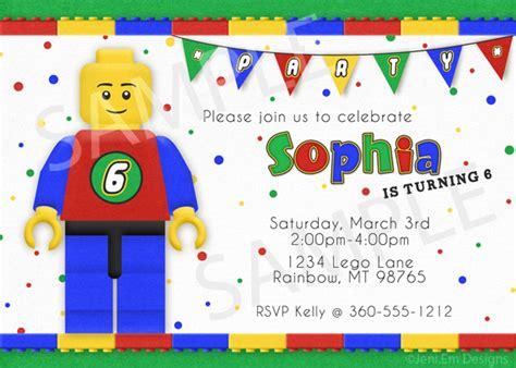 boy lego birthday card template word lego birthday invitation printable for boy or